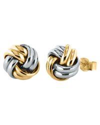 Ib&b   Metallic 9ct Gold Small Knot Stud Earrings   Lyst
