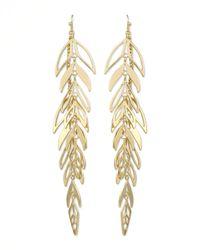 Kendra Scott - Metallic Zinnia Leaf Drop Earrings - Lyst
