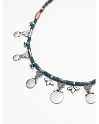 Free People - Blue Womens Rachel Beaded Collar - Lyst