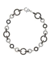 Judith Jack | Gray Bracelet, Marcasite And Crystal Circle Link | Lyst
