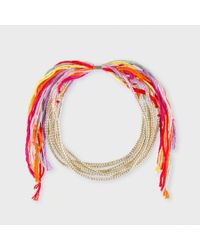 Paul Smith | Metallic Silver Rainbow Bracelet for Men | Lyst