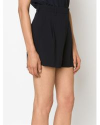 Victoria, Victoria Beckham - Blue High Waisted Shorts - Lyst