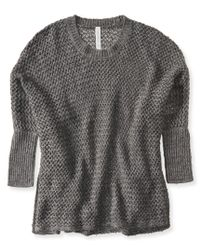 Aéropostale | Gray Open-stitch Sweater Poncho | Lyst