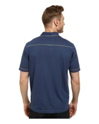 Tommy Bahama | Blue New Fray Day Polo for Men | Lyst