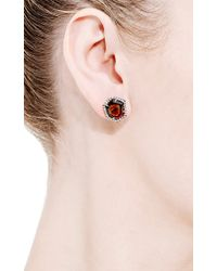 Jemma Wynne - Red One Of A Kind Large Bicolor Tourmaline and Diamond Stud Earrings - Lyst