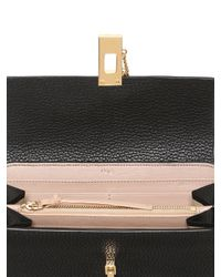 Chloé - Black Nappa Leather Wallet With Flap - Lyst