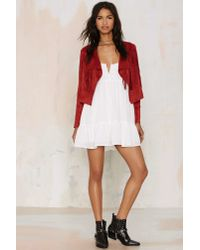Glamorous | Red Blaze Of Glory Fringe Crop Jacket | Lyst