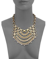 DANNIJO | Metallic Ari Draped Chain Bib Necklace | Lyst
