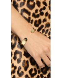 Kacey K - Metallic Kk Open Inital Bracelet - Lyst