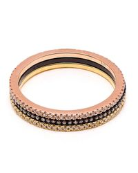 Rosa De La Cruz | Metallic Diamond Triple Band Ring | Lyst