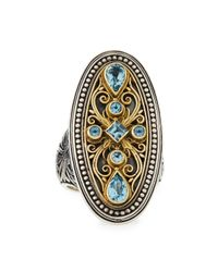 Konstantino | Blue Topaz Large Oval Ring | Lyst
