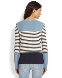 M.i.h Jeans - Blue Colorblock Breton-striped Tee - Lyst