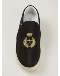 Joshua Sanders - Black Logo Embroidered Espadrilles for Men - Lyst