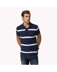 Tommy Hilfiger | Blue Cotton Pique Regular Fit Polo for Men | Lyst