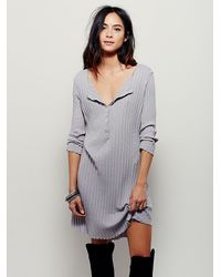 Free People | Gray Fp Beach Womens Kickin It Dress | Lyst