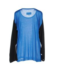 MM6 by Maison Martin Margiela - Blue T-shirt - Lyst