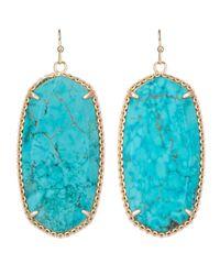 Kendra Scott | Blue Deily Drop Earrings | Lyst