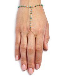 Ela Rae | Blue 'sosi' Semiprecious Stone Hand Chain | Lyst