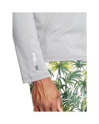 Ralph Lauren - Gray Jersey Half-zip Pullover for Men - Lyst