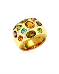 Kiki McDonough - Metallic Diamond Gem Gold Ring - Lyst