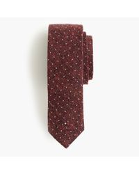 J.Crew - Purple English Silk Tie In Microdot for Men - Lyst