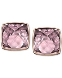 Swarovski | Rose Gold Pvd Crystal Antique Pink Stud Earrings | Lyst