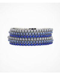 Express - Blue Six Row Rhinestone Stretch Bracelet Set - Lyst