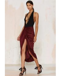 Nasty Gal | Red Wrap Your Mind Maxi Skirt | Lyst