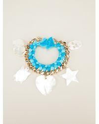Aurelie Bidermann | Blue 'do Brasil' Charms Bracelet | Lyst