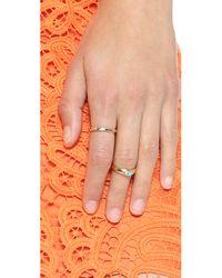 Monica Rich Kosann - Metallic Silver Lining Ring Charm - Gold/silver - Lyst