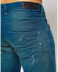 DIESEL Blue Jeans Safado 824p Straight Fit Destroy Wash for men