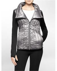 Calvin Klein - White Label Performance Metallic Puffer Jacket - Lyst