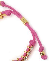 Juicy Couture | Purple Rhinestone Friendship Bracelet | Lyst