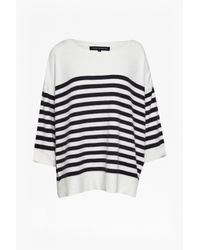 French Connection | Black Breton Vhari Jumper | Lyst