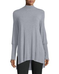 Eileen Fisher | Gray Cozy Stretch Skinny-sleeve Tunic | Lyst