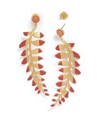 Tory Burch - Red Fern Drop Earring - Lyst