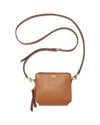 Fossil - Brown Sydney Leather Mini Organizer Crossbody - Lyst