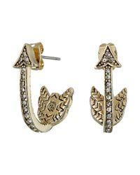 House of Harlow 1960 | Metallic Arrow Affair Huggies Earrings | Lyst