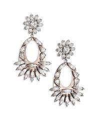 DANNIJO - Metallic Blanca Crystal Drop Earrings - Lyst
