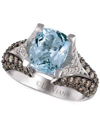 Le Vian - Blue Aquamarine (2-1/2 Ct. T.W.) And Diamond (1-1/5 Ct. Tw.) Ring In 14K White Gold - Lyst