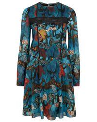 Alice + Olivia - Multicolor Aimee Printed Georgette Dress - Lyst