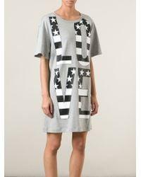 Love Moschino   Gray Oversized Love Print T-shirt   Lyst