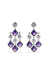 David Yurman - Purple Sculpted Cable Chandelier Earrings With Amethyst - Lyst