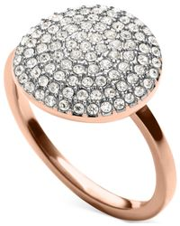 Michael Kors | Pink Crystal Pavé Disc Ring | Lyst