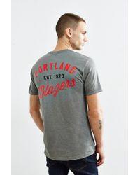 Urban Outfitters - Gray Portland Trailblazers Vintage Logo Tee for Men - Lyst