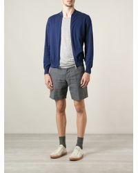 Brunello Cucinelli - Blue Zipup Cardigan for Men - Lyst