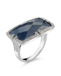 Ivanka Trump - Gray Metropolis Collection- Blue Sapphire and Diamond Ring - Lyst