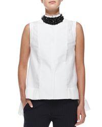 Brunello Cucinelli - Black Swarovski Crystal Collar Necklace - Lyst