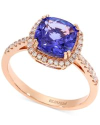 Effy Collection | Metallic Tanzanite (2-1/4 Ct. T.w) And Diamond (1/4 Ct. T.w.) Ring In 14k Rose Gold | Lyst
