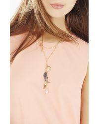 BCBGMAXAZRIA | Metallic Celestial Charm Necklace | Lyst